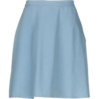 《セール開催中》COMPAIA FANTASTICA レディース ひざ丈スカート スカイブルー S コットン 100%