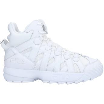 《セール開催中》FILA メンズ スニーカー&テニスシューズ(ハイカット) ホワイト 8.5 革 / 紡績繊維