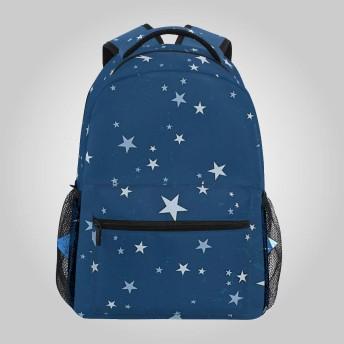 星柄 星空 バックパック デイパック リュック リュックリュックサック ラップトップバック 旅行 軽量 カジュアル 多機能バッグ 大容量 PC 可愛い 通勤 おしゃれ 出張 通学 学生 男女兼用 A4収納 人気