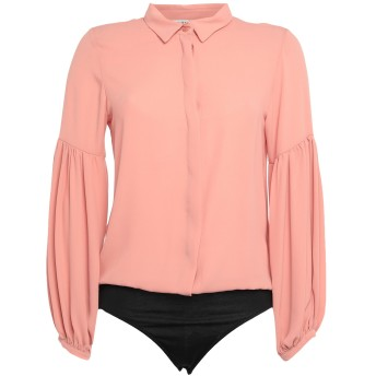 《セール開催中》RUE8ISQUIT レディース シャツ ピンク 38 ポリエステル 100% / レーヨン / ポリウレタン
