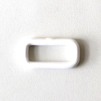 鉄製 小カン21mm ナイロンコーティング加工 ホワイト6個