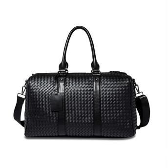 ボストンバッグ メンズ 旅行 PUレザー 大容量 レディース 2泊Super Super DUFFLE BAG LARGE A3 shoulder bag/Boston bag/bag/bag Men / 2WAY gift/gift/commuting/commuting/free shipping (ブラック)