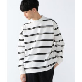 B:MING by BEAMS 【予約】B:MING by BEAMS / ポンチ ボーダー モックネック カットソー メンズ カットソー OFF WHT M