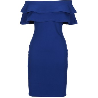 《セール開催中》FOREVER UNIQUE レディース ミニワンピース&ドレス ブライトブルー 2 ポリエステル 100%