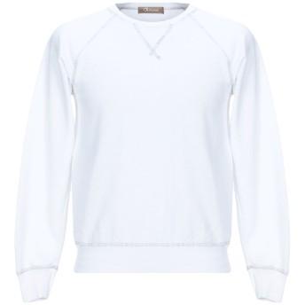 《セール開催中》OBVIOUS BASIC メンズ スウェットシャツ ホワイト S コットン 100%