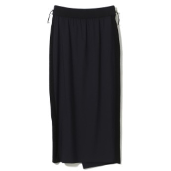 BEAMS LIGHTS 【予約】WRAPINKNOT / ウエストストリング スカート レディース 膝丈スカート NAVY ONE SIZE