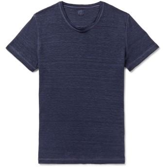 《セール開催中》120% メンズ T シャツ ダークブルー XL リネン 100%
