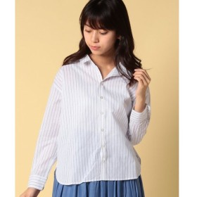 【グリーンパークス】ベーシックストライプシャツ