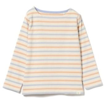 BEAMS mini BEAMS mini / マルチボーダー ロングTシャツ 19FW(90~150㎝) キッズ カットソー IVORY/BLUE/ORANGE 110
