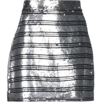 《セール開催中》DEREK LAM 10 CROSBY レディース ミニスカート シルバー 8 シルク 100%