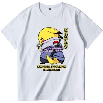 JUJURONG ポケットモンスター Tシャツ Pokemon ピカチュウ Pikachu メンズ/レディース Tシャツ/夏服 スポーツ Tシャツ/半袖 Tシャ