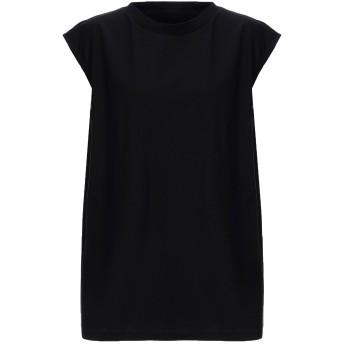 《セール開催中》MM6 MAISON MARGIELA レディース T シャツ ブラック S コットン 100%