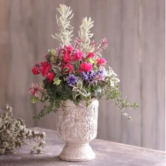 チモの花束植え アンティーク調カップ型鉢