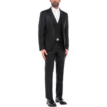 《セール開催中》TAGLIATORE メンズ スーツ ブラック 54 バージンウール 95% / ポリウレタン 5%