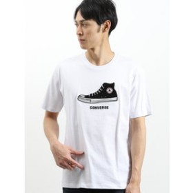 【on the day:トップス】コンバース/CONVERSE カラーシューズサガラ刺繍半袖Tシャツ