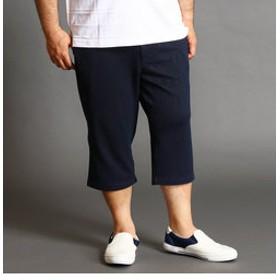 【NICOLE:パンツ】<大きいサイズ>ダブルフェイスジャカードハーフパンツ