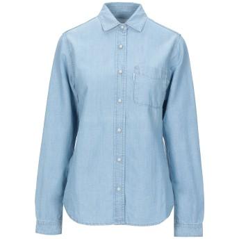 《セール開催中》HAIKURE レディース デニムシャツ ブルー S コットン 80% / リネン 20%