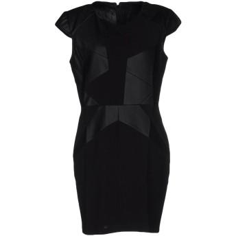 《セール開催中》GUESS レディース ミニワンピース&ドレス ブラック M ポリウレタン 100% / ポリエステル / ポリウレタン