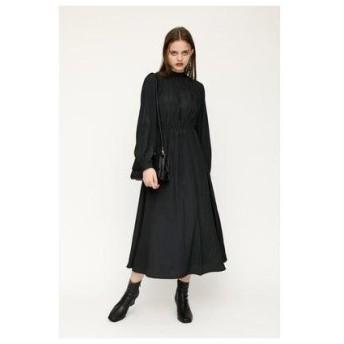 スライ SLY GATHER STAND N/C DRESS (ブラック)