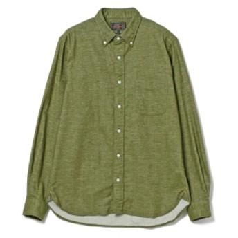 BEAMS PLUS BEAMS PLUS / フランネル ボタンダウンシャツ メンズ カジュアルシャツ OLIVE/OD S