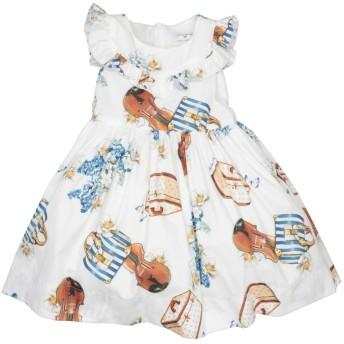 《セール開催中》MONNALISA ガールズ 3-8 歳 ワンピース&ドレス ホワイト 3 コットン 100%