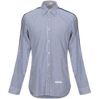 《セール開催中》DNL メンズ シャツ ブルー 39 コットン 100% / ナイロン