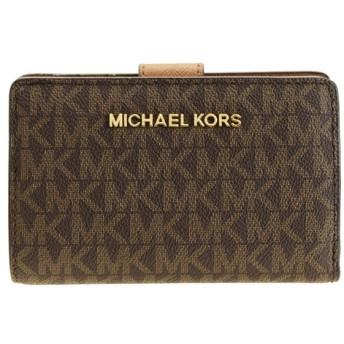 マイケル マイケルコース MICHAEL MICHAEL KORS 二つ折り財布 アウトレット 35f8gtvf2b-brown