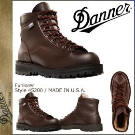 ダナー Danner エクスプローラー ブーツ メンズ EXPLORER MADE IN USA EEワイズ ダーク ブラウン 45200 10/10 再入荷
