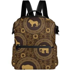 (fohoo) リュックサック レディース メンズ おしゃれ アニマル柄 レトロ アフリカ風 バッグ 人気高校生 大容量 通学 通勤 出張 旅行 プレゼント