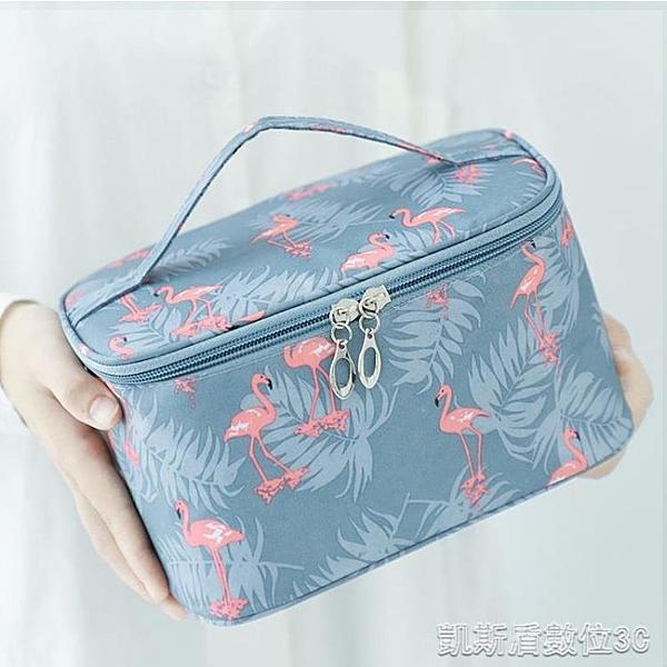 網紅化妝包女便攜韓國簡約大容量化妝袋箱少女心洗漱品收納盒 母親節禮物