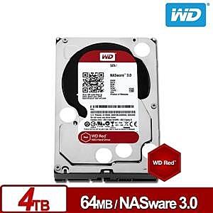 WD40EFRX 紅標Plus 4TB 3.5吋NAS硬碟