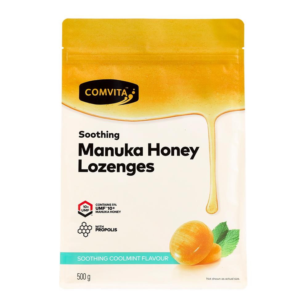 【Comvita 康維他】 蜂膠麥蘆卡蜂蜜潤喉糖(薄荷味)500g