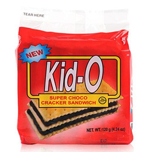 Kid-O 日清 純巧克力 三明治 120g【康鄰超市】