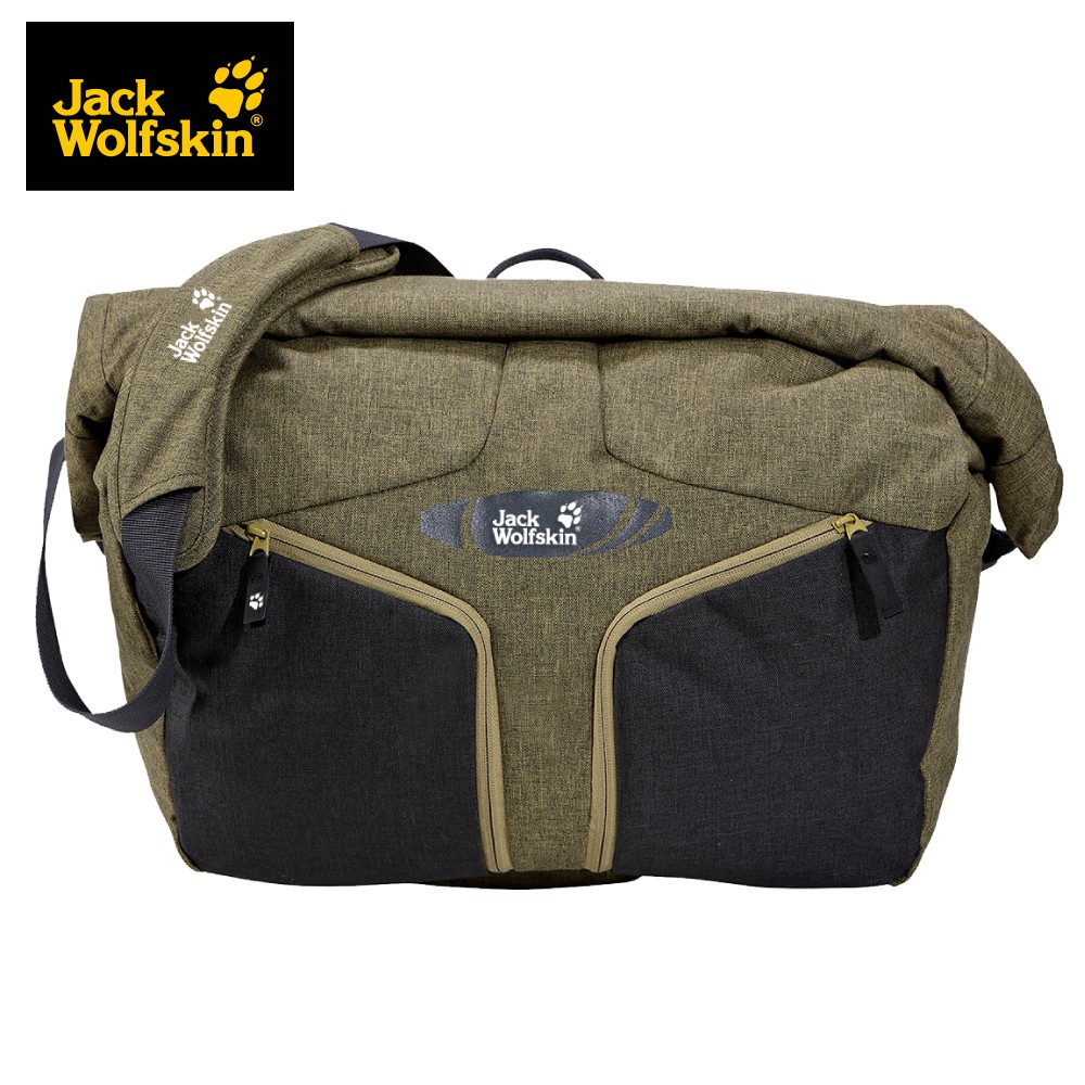 【Jack wolfskin 飛狼】Urban Messenger 單肩背包 18L 『橄欖綠 / 黑色』.