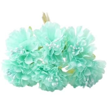 Fenteer シルクフラワー 造花 フラワー ブーケ 花束 結婚式 ホーム パーティー 装飾 - グリーン