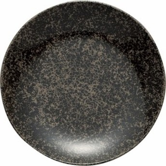 【皿 クローチェ プレート M ブラック φ172cm 1枚入】[代引選択不可]
