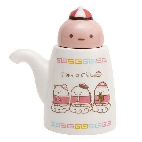 〔小禮堂〕角落生物 造型陶瓷醬油瓶《棕紅.中國服》調味瓶.醋瓶 4974413-74801