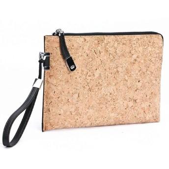 バッグインバッグ 軽量 クラッチ ポケット多め ストラップつき バッグ iPad/iPad AIR 収納 ケース コルク 天然素材