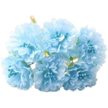 Fenteer シルクフラワー 造花 フラワー ブーケ 花束 結婚式 ホーム パーティー 装飾 - ブルー
