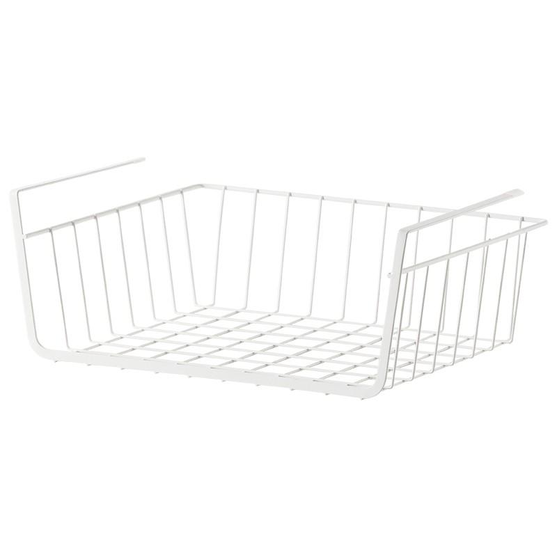 鐵藝置物架掛式廚房免打孔收納架儲物架子掛籃置物籃66133