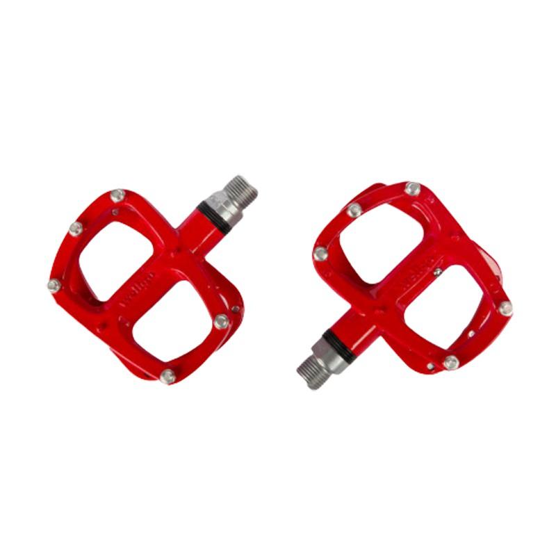 wellgo R146R 鋁合金船型培林腳踏板(紅色)[盒裝公司貨][03005740]