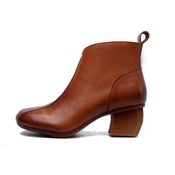 [VALER] レディース 黒 ヒール 大きいサイズ サイドジップ ショートブーツ レディース 黒 ヒール 23.5cm ブーティ 美脚 きいろ フェイクレザー プレーンショート 冬 靴 ブーティー ジップ おしゃれ 可愛い アウトレットシューズ