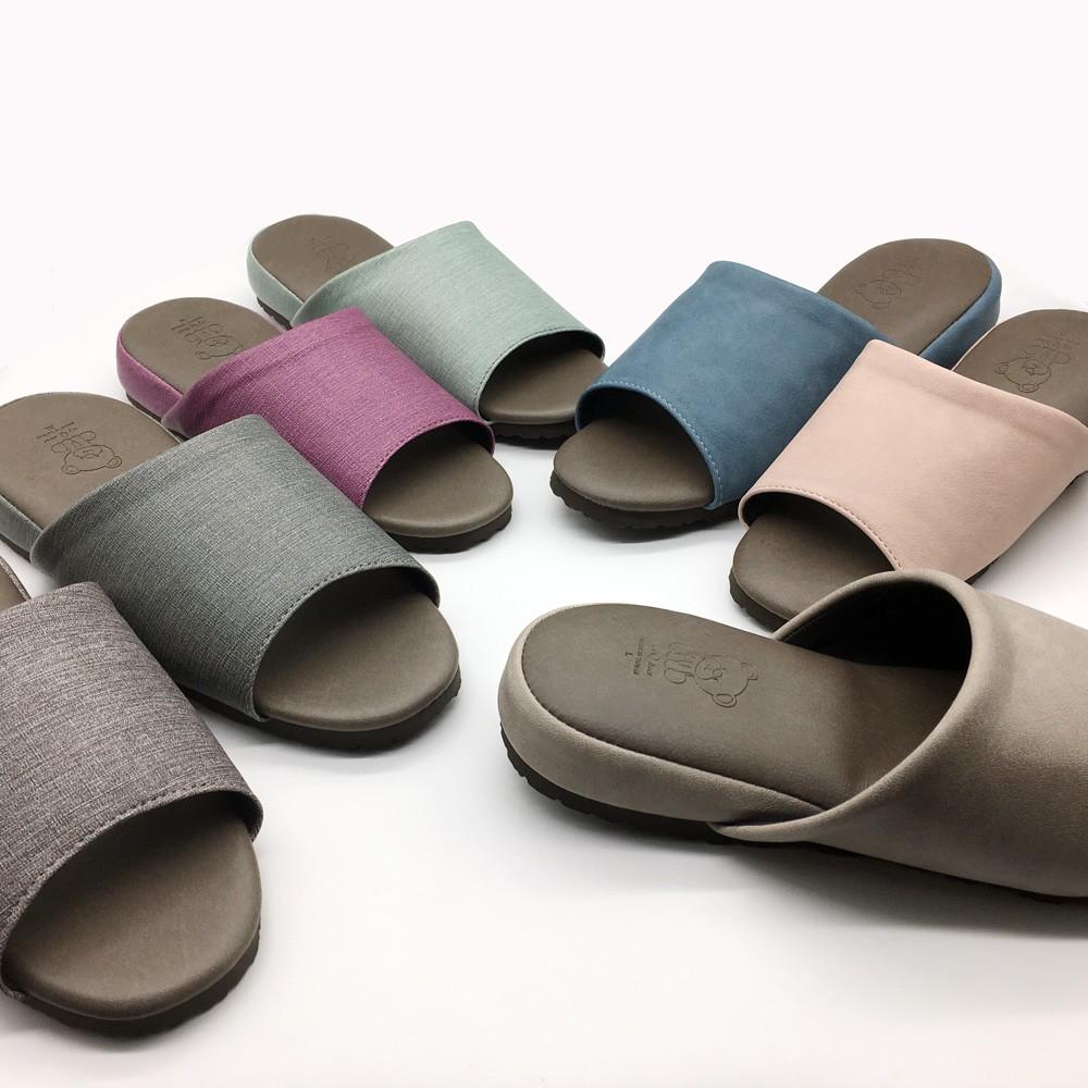 【iSlippers】極致風格-厚跟紓壓皮質室內拖鞋 /多款任選 -3雙任選$149/雙