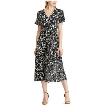 LAUREN RALPH LAUREN / ローレン ラルフ ローレン フローラル ジャージー ドレス
