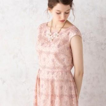 ローズティアラ(Rose Tiara)/オーガンジーフラワー刺繍ワンピース