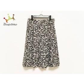 マッキントッシュ MACKINTOSH スカート サイズ38 M レディース 美品 黒×白 花柄 新着 20191213