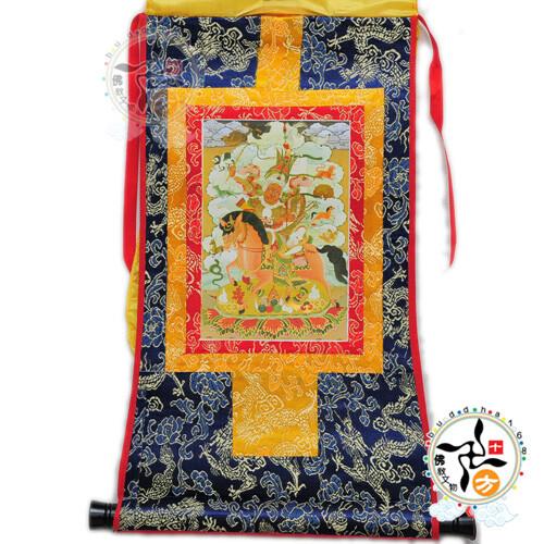 給薩王 迷你 唐卡 十方佛教文物