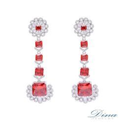 【DINA JEWELRY 蒂娜珠寶】烈日情懷 CZ鑽造型耳環 (LY71906)