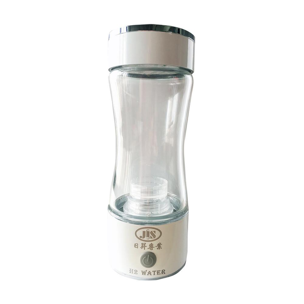 日昇 h2 water 富氫能量水隨身製造機(水素水) 玻璃-優雅白
