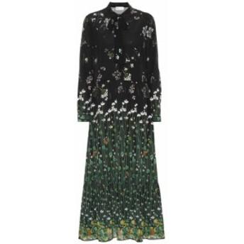 レッド ヴァレンティノ REDValentino レディース ワンピース ワンピース・ドレス floral silk dress Nero